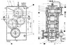 Вертикальный редуктор отбора мощности УПА60А.232.01.100СБ